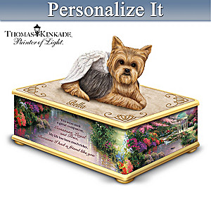 Thomas Kinkade Personalized Yorkie Keepsake Box