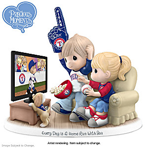 Precious Moments Texas Rangers Porcelain Figurine