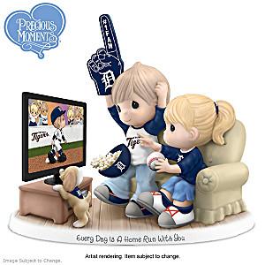 Precious Moments Detroit Tigers Fan Porcelain Figurine