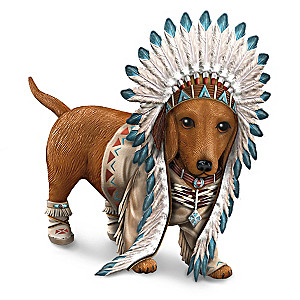 """Chief Barks A Lot"" Dachshund Figurine"