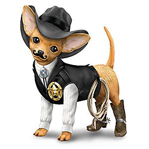 """She-ruff Paws"" Cowboy Chihuahua Figurine"