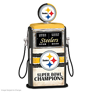 Fueled For Victory Pittsburgh Steelers Gas Pump Sculpture
