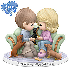 Precious Moments Together We're A Paw-fect Family! Figurine