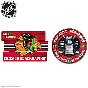 Chicago Blackhawks® Wooden Sign Set