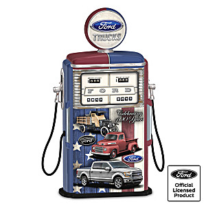 Fueled Tough: Ford Truck Gas Pump Sculpture