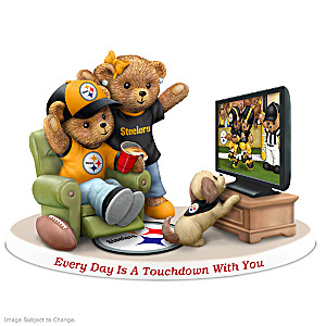 Every Day Is A Touchdown With You Steelers Bear Figurine