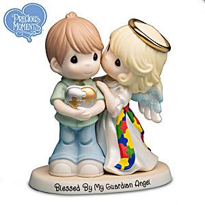 Precious Moments Autism Awareness Guardian Angel Figurine