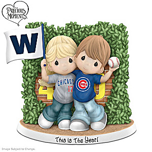 Precious Moments This Is The Year Chicago Cubs Fan Figurine