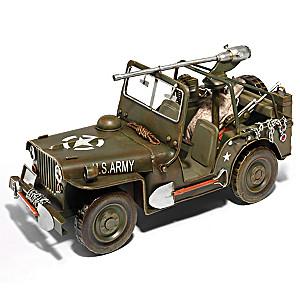 1:12-Scale 1940 World War II Jeep Diecast Car
