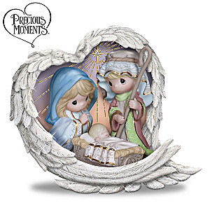"""Precious Moments """"Heavenly Blessings"""" Nativity Figurine"""