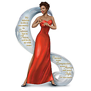Maya Angelou-Inspired Thrive With Passion And Style Figurine