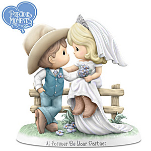 Precious Moments Country Wedding Porcelain Figurine