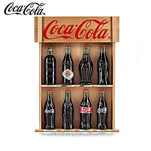 COCA-COLA Bottle Replicas With Collector Cards