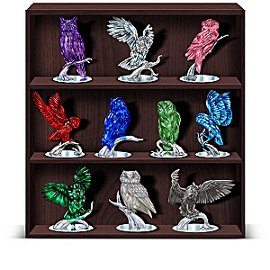 Blake Jensen Owl Figurine Collection With Custom Display